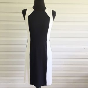 Ann Taylor Sleeveless Stretch  Pencil Midi Dress